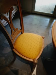 Chaise + galette avant