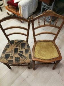 chaises avant dégarnissage