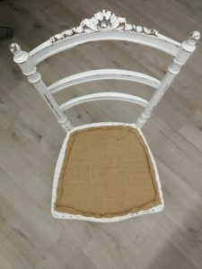pose toile forte chaise