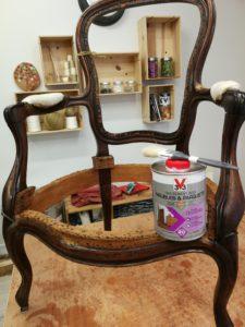 Traitement Xylophène fauteuil Louis Philippe