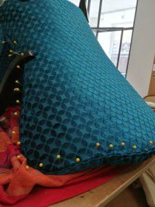 fauteuil art déco couture dossier extérieur