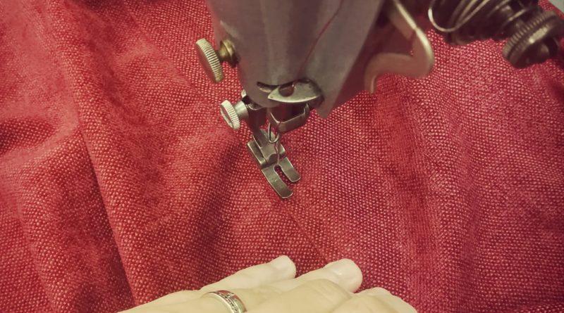 Couture et surpiqure tissu